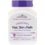 21st Century Hair, Skin & Nails iluvitamiinid 50tk