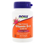 NOW Foods D3 vitamiin 2000IU 120tbl