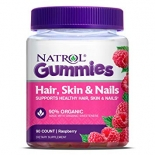 Natrol Gummies Hair, Skin & Nails vaarikamaitselised närimisvitamiinid 90tk.