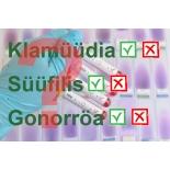 Suguhaiguste kolmikpakett naistele (Klamüüdia/Gonorröa/Süüfilis)