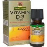 Nature's Answer D3 vitamiini tilgad 4000IU 240/480 doosi